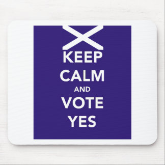 Keep calm and vote yes mouse mat