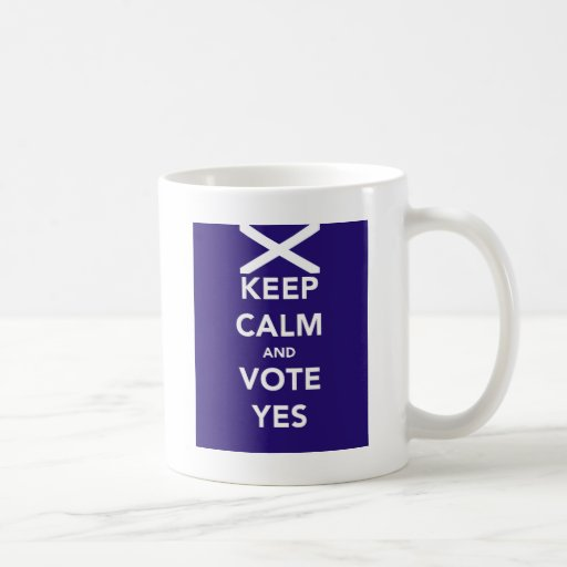 Keep calm and vote yes mugs