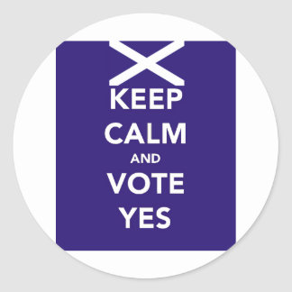 Keep calm and vote yes sticker