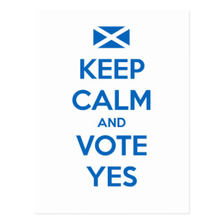 Keep Calm and Vote Yes to the Scottish Referendum Postcard