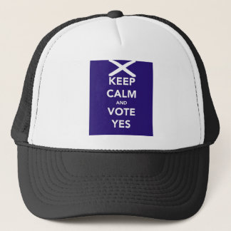 Keep calm and vote yes trucker hat