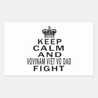 Keep Calm And Vovinam Viet vo Dao Fight Rectangular Stickers