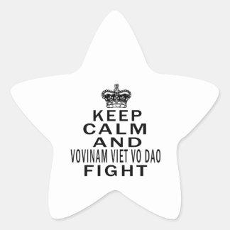 Keep Calm And Vovinam Viet vo Dao Fight Star Sticker