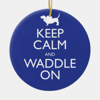 Keep Calm and Waddle on Christmas Ornament