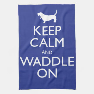 Keep Calm and Waddle on Tea Towel