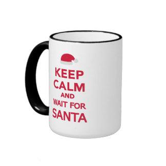 Keep calm and wait for Santa Coffee Mug