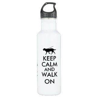 Keep Calm and Walk On Dog Walking Labrador 710 Ml Water Bottle