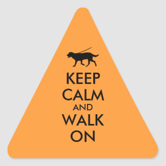 Keep Calm and Walk On Dog Walking Labrador Stickers