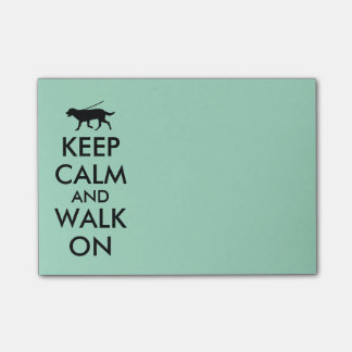 Keep Calm and Walk On Dog Walking Notepad Post-it® Notes
