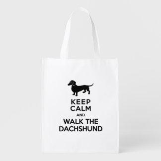 Keep Calm and Walk the Dachshund - Cute Doxie
