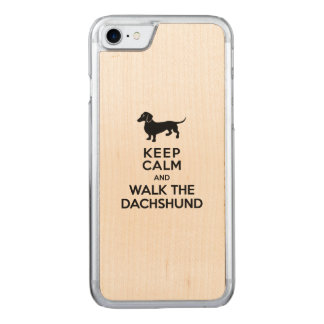 Keep Calm and Walk the Dachshund - Cute Doxie Carved iPhone 8/7 Case