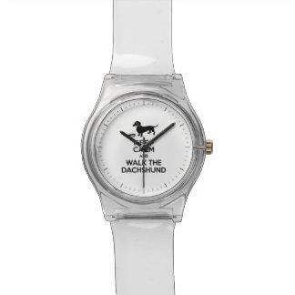 Keep Calm and Walk the Dachshund - Cute Doxie Wrist Watches