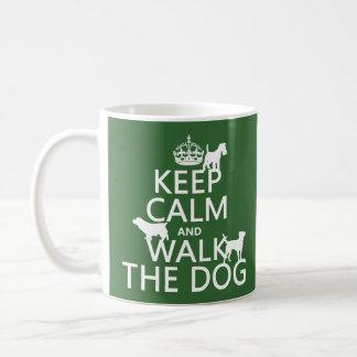 Keep Calm and Walk The Dog - all colors Basic White Mug