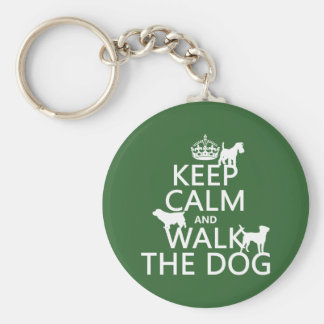 Keep Calm and Walk The Dog - all colors Key Ring