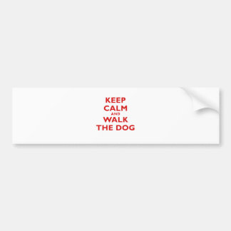 Keep Calm and Walk the Dog Bumper Sticker