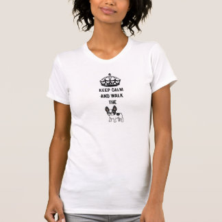Keep calm and walk the french bulldog t-shirt