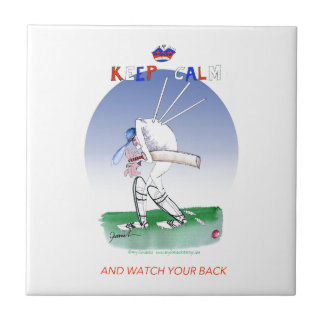 keep calm and watch your back, tony fernandes small square tile