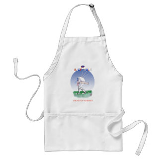 keep calm and watch your back, tony fernandes standard apron