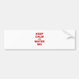 Keep Calm and Water Ski Bumper Stickers