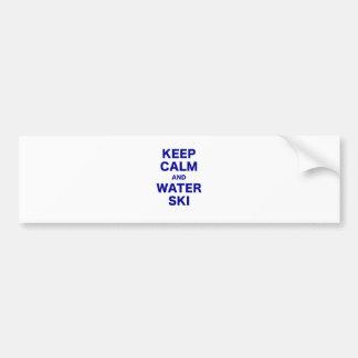 Keep Calm and Water Ski Car Bumper Sticker