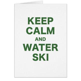 Keep Calm and Water Ski Card