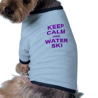 Keep Calm and Water Ski Pet Tee
