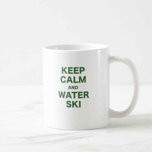 Keep Calm and Water Ski Mugs