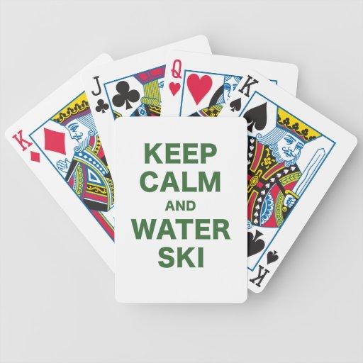 Keep Calm and Water Ski Bicycle Poker Deck
