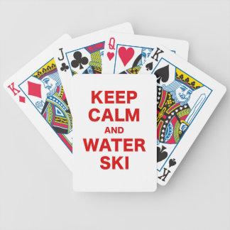 Keep Calm and Water Ski Card Decks