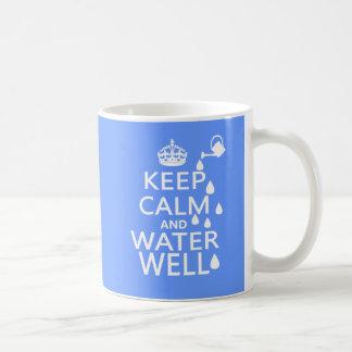 Keep Calm and Water Well Basic White Mug