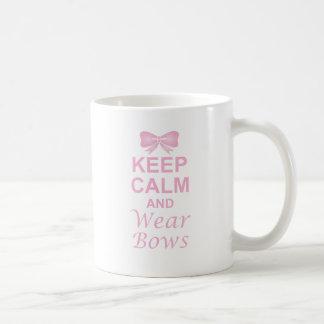 Keep Calm and Wear Bows Basic White Mug