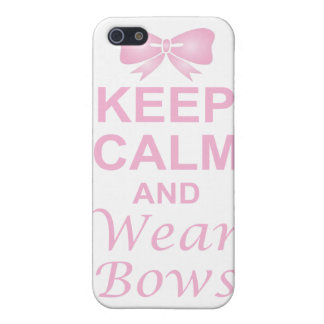 Keep Calm and Wear Bows Covers For iPhone 5