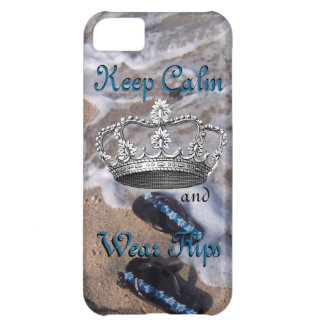 Keep Calm and Wear Flip Flop Sandals iPhone 5C Case