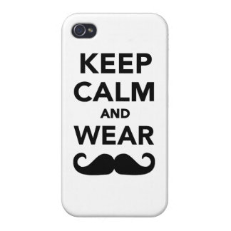 Keep calm and wear Mustache Covers For iPhone 4