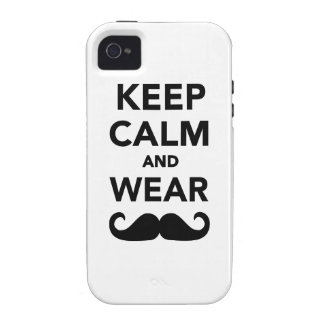 Keep calm and wear Mustache iPhone 4/4S Case