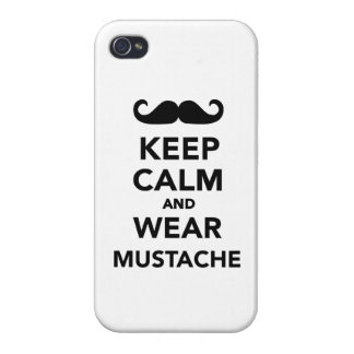 Keep calm and wear Mustache iPhone 4/4S Cases