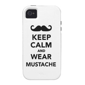 Keep calm and wear Mustache Vibe iPhone 4 Cover