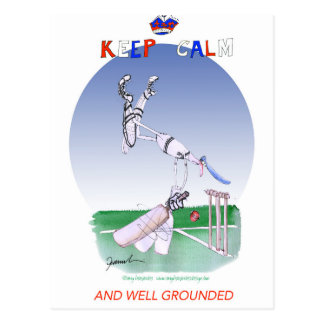 keep calm and well grounded, tony fernandes postcard
