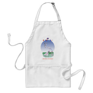 keep calm and well grounded, tony fernandes standard apron