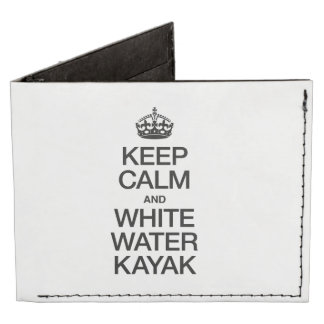 KEEP CALM AND WHITE WATER KAYAK TYVEK WALLET
