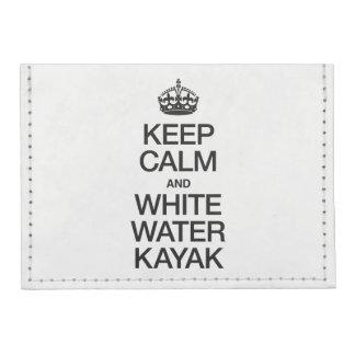 KEEP CALM AND WHITE WATER KAYAK TYVEK® CARD WALLET