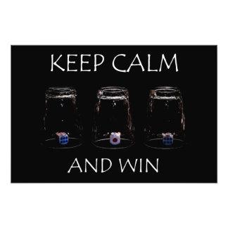 Keep calm and win art photo