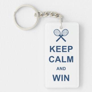 Keep Calm and Win Single-Sided Rectangular Acrylic Key Ring