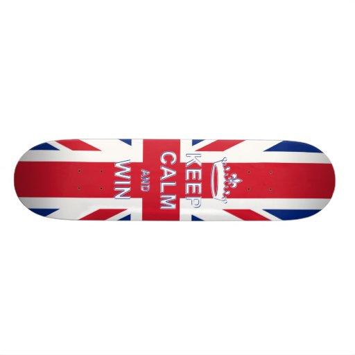 Keep Calm and Win Skate Board