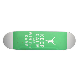 Keep Calm and Win The Game Skateboard Deck