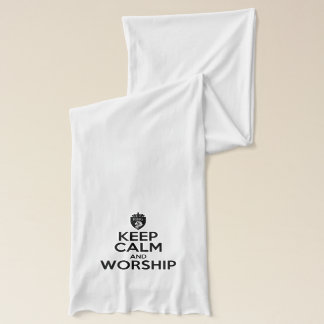 Keep Calm and Worship Jersey Scarf