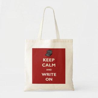 Keep Calm and Write On Vintage Typewriter Tote Bag