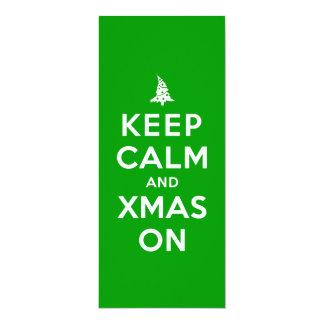 Keep Calm and Xmas On 10 Cm X 24 Cm Invitation Card