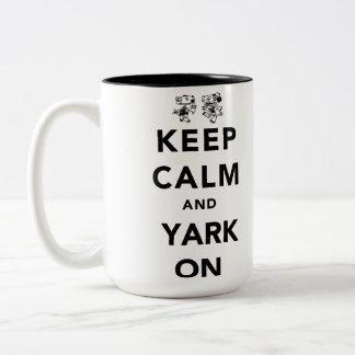 Keep Calm and Yark On! Two-Tone Mug
