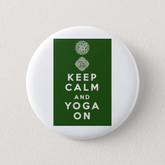 Keep Calm and Yoga On 6 Cm Round Badge